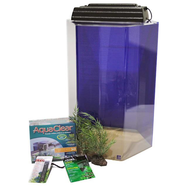 SeaClear 20 Gallon Junior Executive Hexagon Kit, Cobalt Blue - Carousel image #1