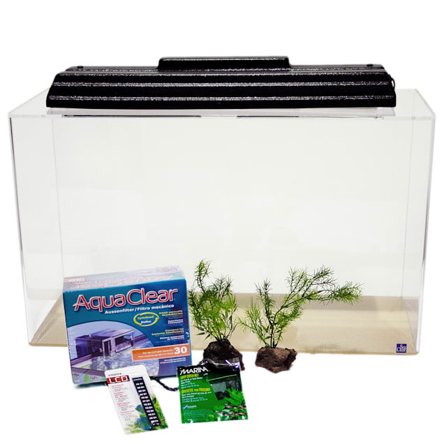 SeaClear 29 Gallon Rectangular Show Junior Executive Kit, Clear - Carousel image #1