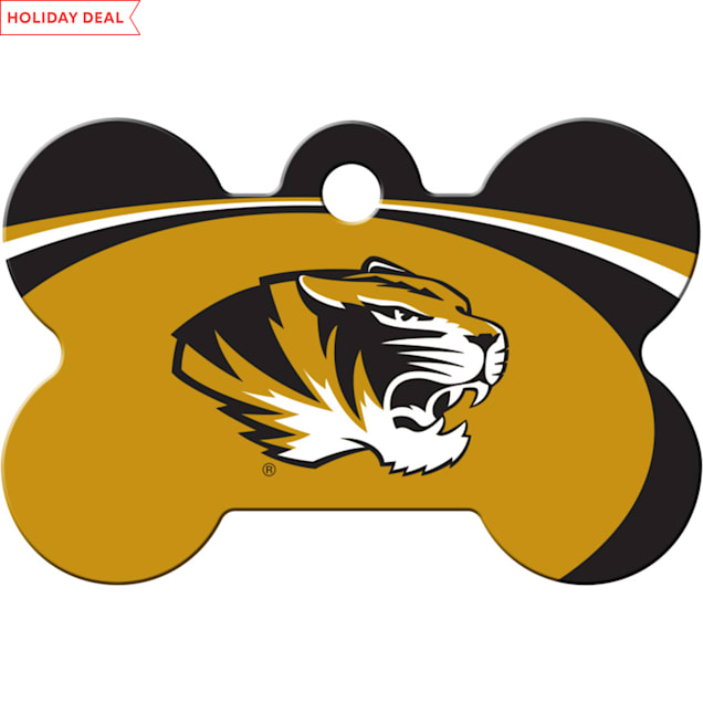 Quick-Tag Missouri Tigers NCAA Bone Personalized Engraved Pet ID Tag - Carousel image #1
