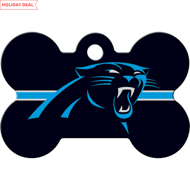 Quick-Tag Carolina Panthers NFL Bone Personalized Engraved Pet ID Tag - Carousel image #1
