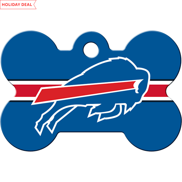 Quick-Tag Buffalo Bills NFL Bone Personalized Engraved Pet ID Tag - Carousel image #1