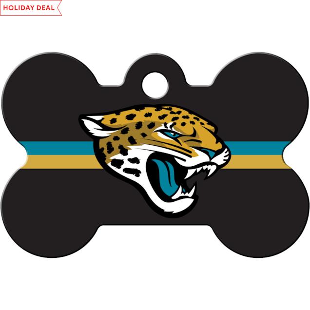 Quick-Tag Jacksonville Jaguars NFL Bone Personalized Engraved Pet ID Tag - Carousel image #1