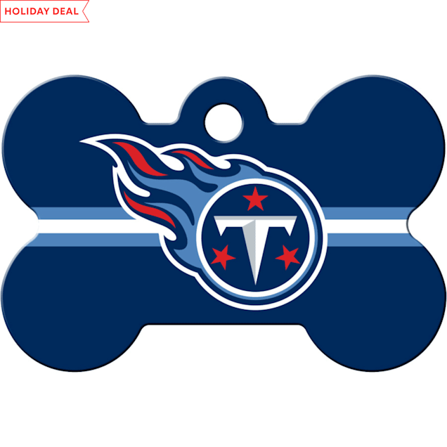 Quick-Tag Tennessee Titans NFL Bone Personalized Engraved Pet ID Tag - Carousel image #1