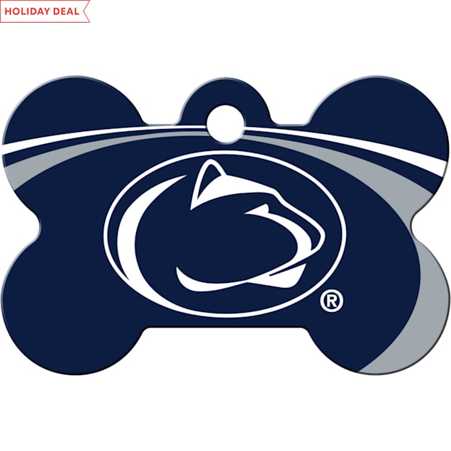 Quick-Tag Penn State Lions NCAA Bone Personalized Engraved Pet ID Tag - Carousel image #1