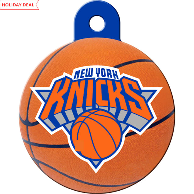 Quick-Tag New York Knicks NBA Circle Personalized Engraved Pet ID Tag - Carousel image #1