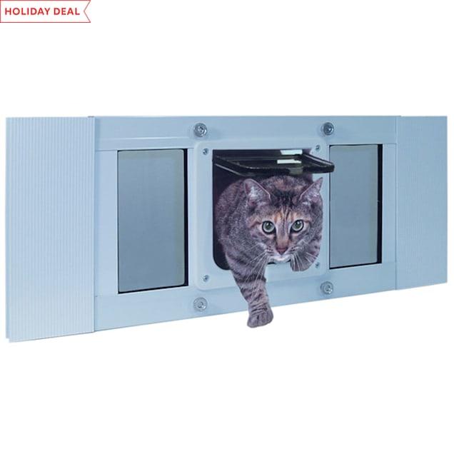 """Perfect Pet 33-38"""" Cat Flap Sash Window Cat Door, 10.625IN x 1.25IN x 27IN - Carousel image #1"""