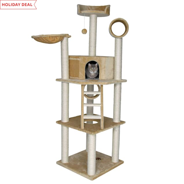 """Trixie Montilla Cat Tree in Beige, 77.5"""" H - Carousel image #1"""