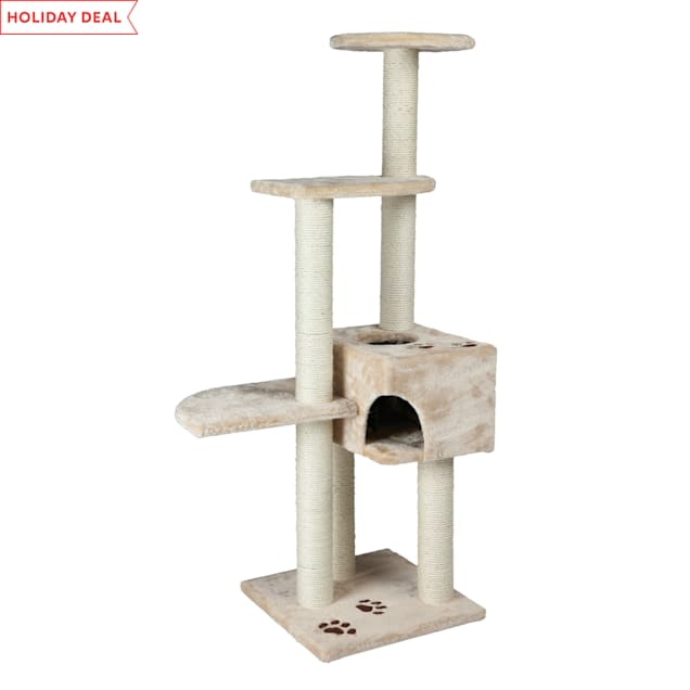 """Trixie Alicante Cat Tree in Beige, 55.75"""" H - Carousel image #1"""