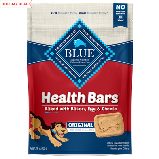 Blue Buffalo Blue Health Bars With Bacon, Egg & Cheese Dog Treats, 16 oz. - Carousel image #1