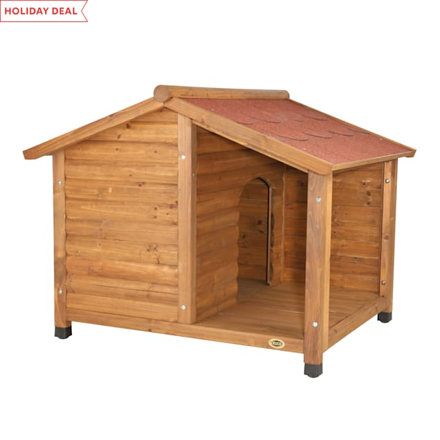 "Trixie Natura Log Dog House, 39.25"" L X 33.25"" W X 35.25"" H, Medium - Carousel image #1"