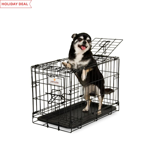 """Petmate 2 Door Training Retreat Wire Dog Kennel in Black, 19"""" L X 11"""" W  X 13"""" H - Carousel image #1"""