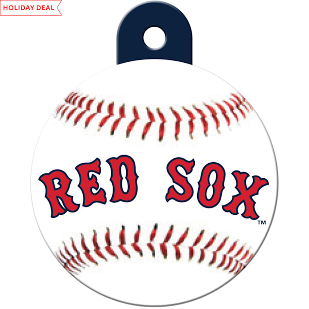 "Quick-Tag Boston Red Sox MLB Personalized Engraved Pet ID Tag, 1 1/4"" W X 1 1/2"" H - Carousel image #1"