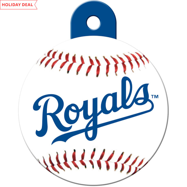 "Quick-Tag Kansas City Royals MLB Personalized Engraved Pet ID Tag, 1 1/4"" W X 1 1/2"" H - Carousel image #1"