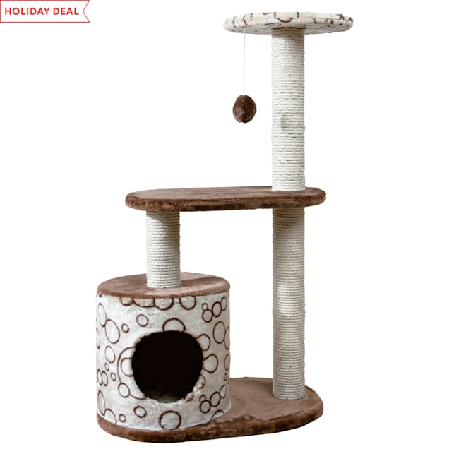 """Trixie Casta Cat Tree in Beige & Brown, 37.25"""" - Carousel image #1"""