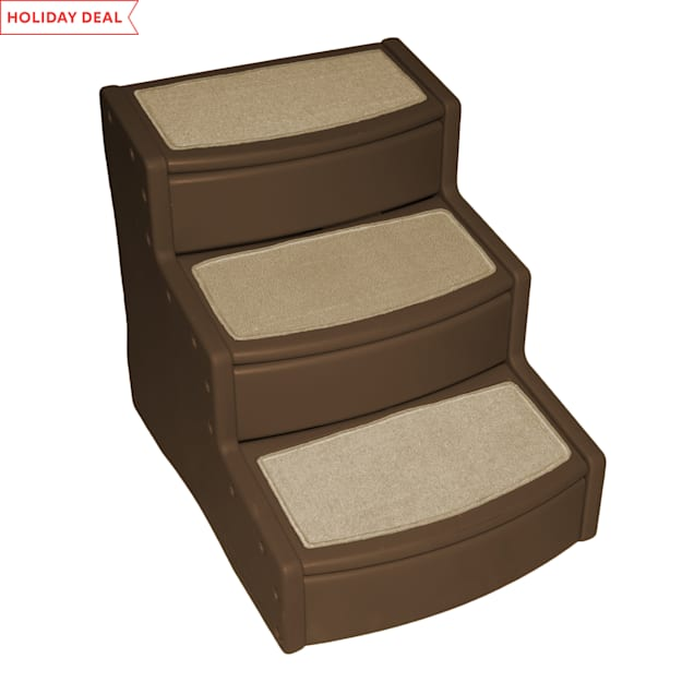 Pet Gear Extra Wide Chocolate Easy Step III Pet Stairs, For Pets up to 200 lbs. - Carousel image #1