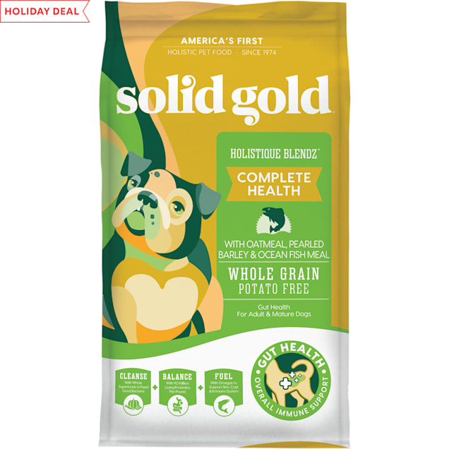 Solid Gold Holistique Blendz Oatmeal, Pearled Barley & Ocean Fish Meal Holistic Potato Free Dry Adult Dog Food, 28.5 lbs. - Carousel image #1