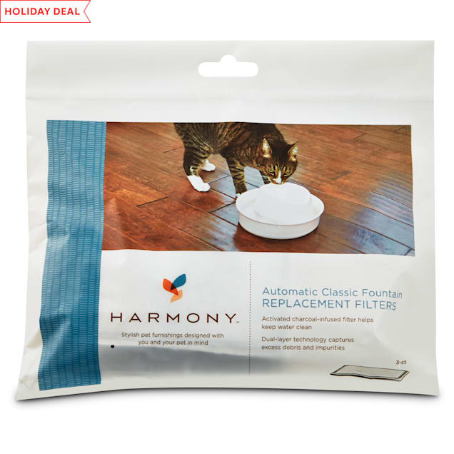 Harmony Automatic Cat Water Fountain Charcoal Replacement Filters, 3 ct. - Carousel image #1