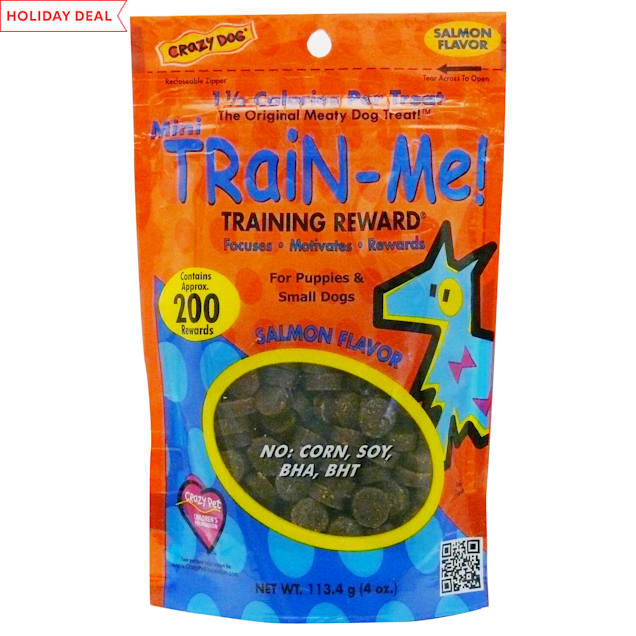 Crazy Dog Mini Train-Me! Salmon Dog Treats, 4 oz. - Carousel image #1