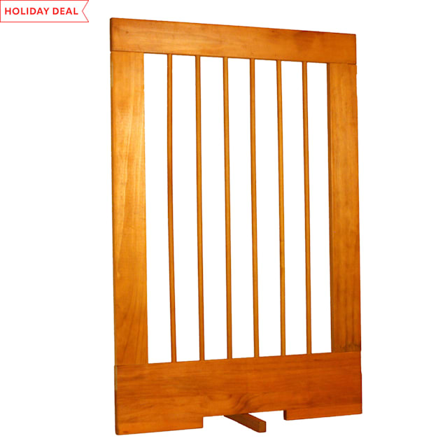 "Cardinal Gates 24"" Extension for 4-Panel Pet Gate, Oak - Carousel image #1"