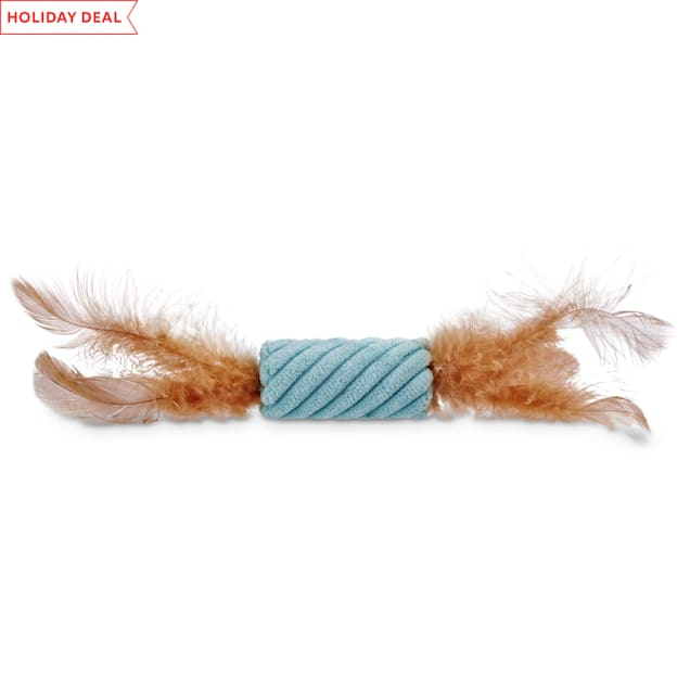 Leaps & Bounds Tube with Feathers Cat Toy - Carousel image #1