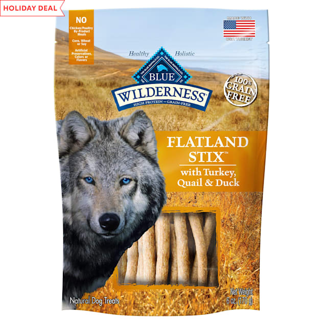 Blue Buffalo Blue Wilderness Flatland Feast Stix Dog Treats, 6 oz. - Carousel image #1