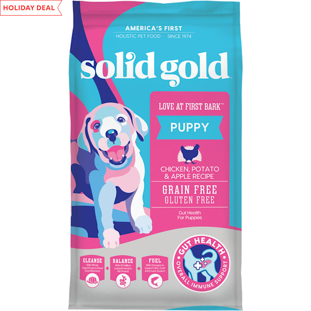 Solid Gold Love At First Bark Chicken, Sweet Potato & Apple Grain Free Dry Puppy Food, 24 lbs. - Carousel image #1