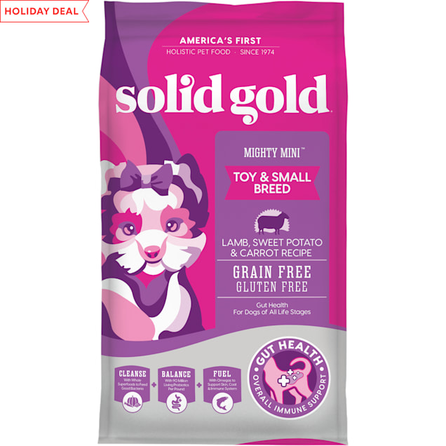 Solid Gold Mighty Mini Lamb, Sweet Potato & Cranberry Recipe Grain Free Dry Dog Food, 11 lbs. - Carousel image #1