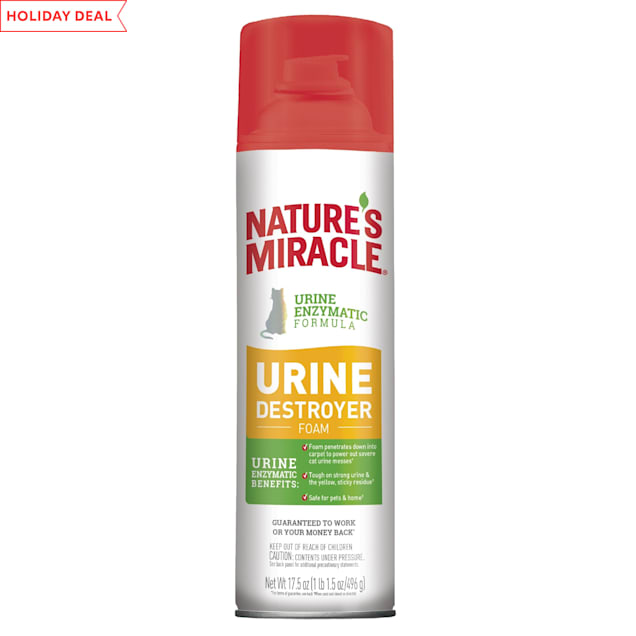 Nature's Miracle Urine Destroyer Foam Cat For Tough Urine Messes Aerosol, 17.5 oz. - Carousel image #1