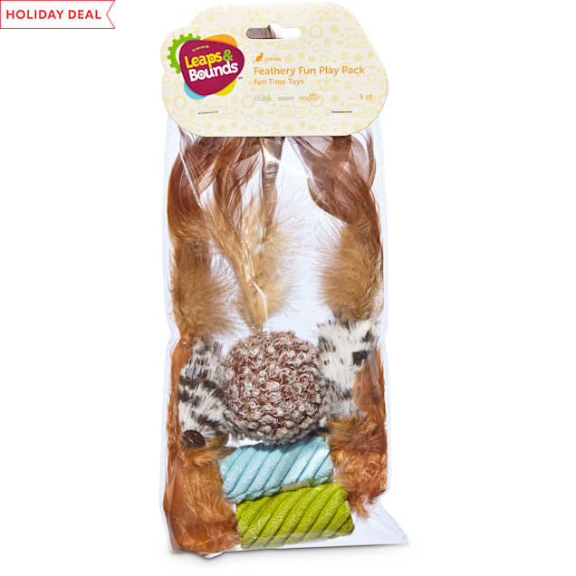 Leaps & Bounds Feather Cat Toy Multipack, 5 CT - Carousel image #1