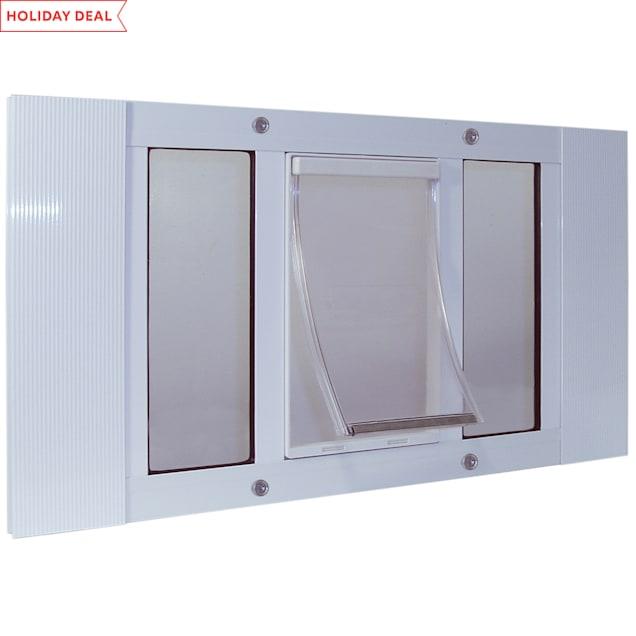 """Perfect Pet 27-32"""" Sash Window Pet Door in White, 12.5625IN x 1.75IN x 27IN - Carousel image #1"""
