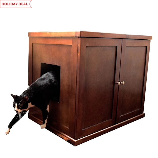 The Refined Feline Litter Box In Mahogany, XLarge - Carousel image #1