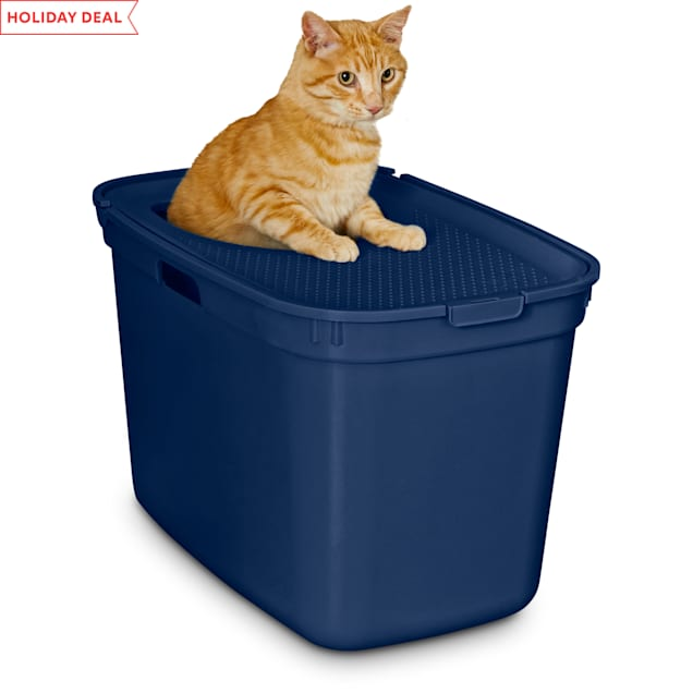 "So Phresh Navy Top-Entry Litter Box, 23.25"" L X 15.5"" W X 15.13"" H - Carousel image #1"
