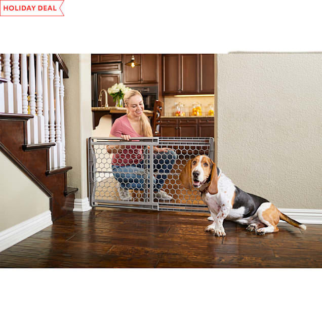 """You & Me Easy-Fit Plastic Pet Gate, 28""""-42"""" W x 23"""" H - Carousel image #1"""