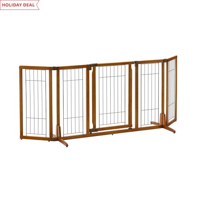 "Richell Wide Premium Plus Freestanding Pet Gate, 84.3"" L x 32"" H x 26"" W - Carousel image #1"