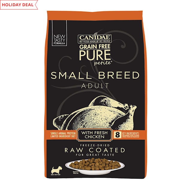 CANIDAE Grain Free PURE Petite Small Breed Dry Dog Food Raw Coated Formula with Chicken, 10 lbs. - Carousel image #1