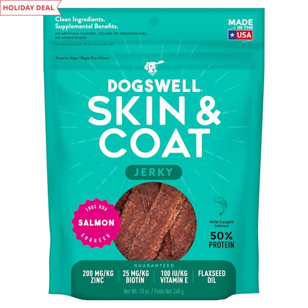 Dogswell Skin & Coat Jerky Grain-Free Salmon for Dogs, 10 oz. - Carousel image #1