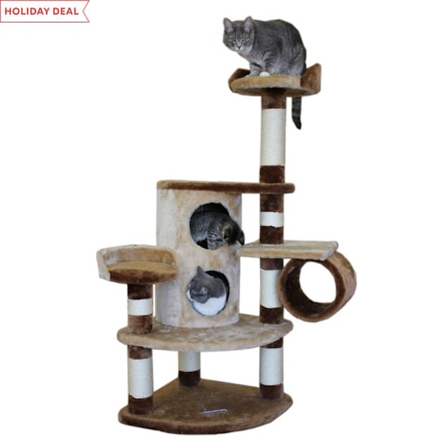 "Kitty Mansions Nashville Cat Tree, 50"" H - Carousel image #1"