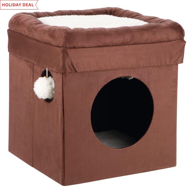 "Trixie Miguel Brown Cat Condo, 14.75"" L X 14.75"" W X 16.5"" H - Carousel image #1"