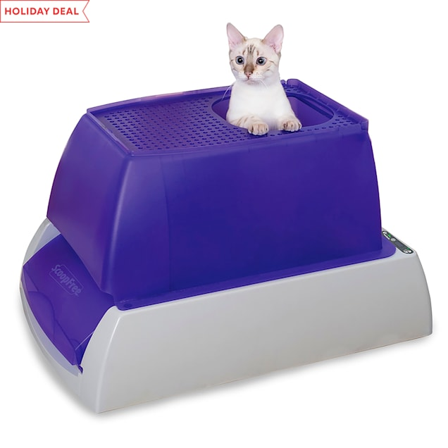 ScoopFree by PetSafe Top-Entry Ultra Self-Cleaning Cat Litter Box with Automatic Disposable Tray, Large - Carousel image #1