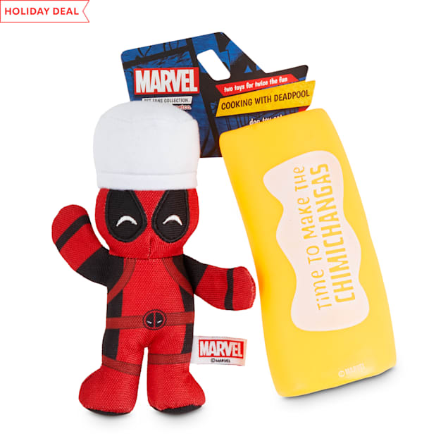 Marvel Cooking with Deadpool Dog Toy Set, Small - Carousel image #1
