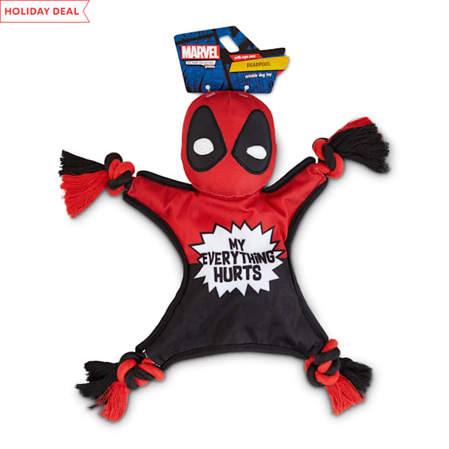 Marvel Deadpool Rope Flattie Dog Toy, Medium - Carousel image #1