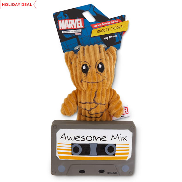 Marvel Guardians of the Galaxy Groot's Groove Dog Toy Set, X-Small, Pack of 2 - Carousel image #1
