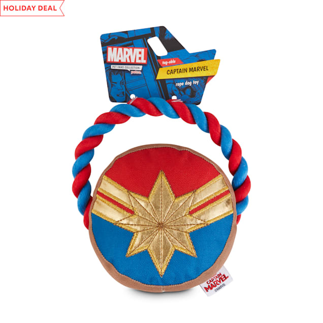 Marvel Avengers Captain Marvel Rope Dog Toy, Small - Carousel image #1
