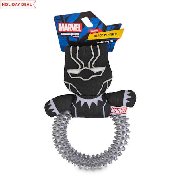 Marvel Avengers Black Panther Rubber Dog Toy, Small - Carousel image #1