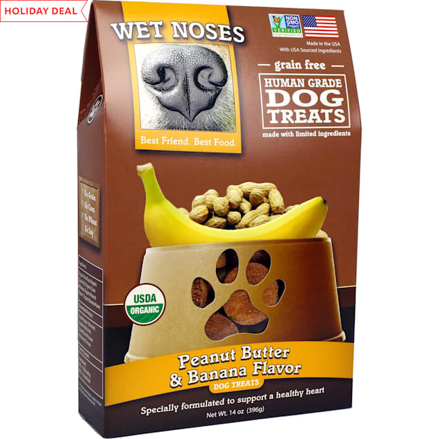 Wet Noses Grain Free Peanut Butter Banana Dog Treats, 14 oz. - Carousel image #1