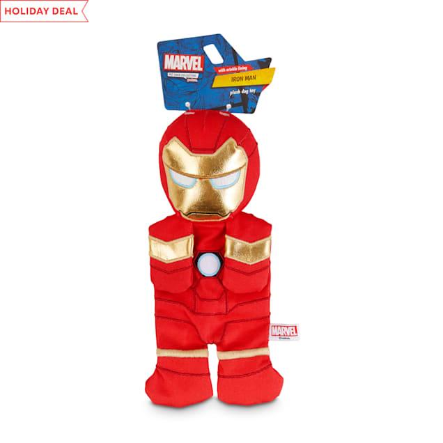 Marvel Avengers Iron Man Flattie Dog Toy, Medium - Carousel image #1