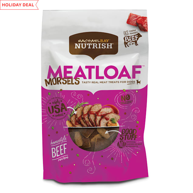 Rachael Ray Nutrish Meatloaf Morsels Homestyle Beef Recipe Dog Treats, 12 oz. - Carousel image #1
