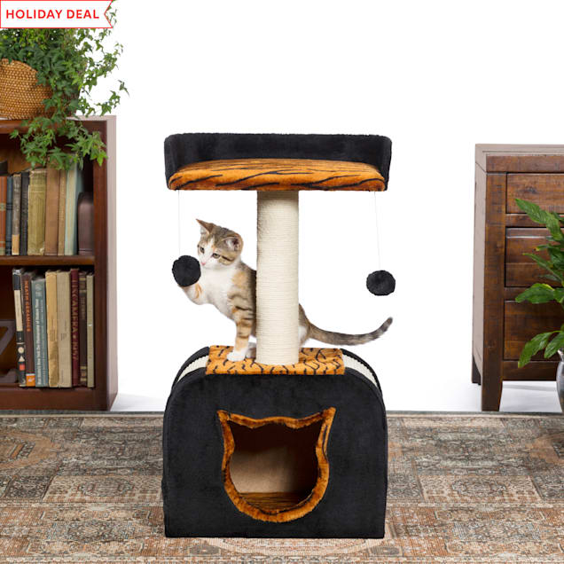 """Prevue Pet Products Kitty Power Paws Tiger Hideaway 7305, 14"""" W X 14"""" H - Carousel image #1"""