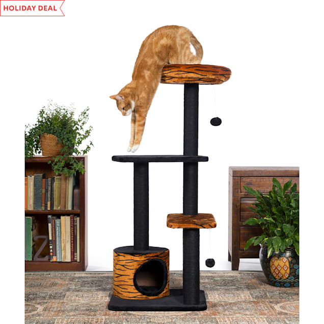 """Prevue Pet Products Kitty Power Paws Tiger Tower 7303, 13"""" W X 20.25"""" H - Carousel image #1"""