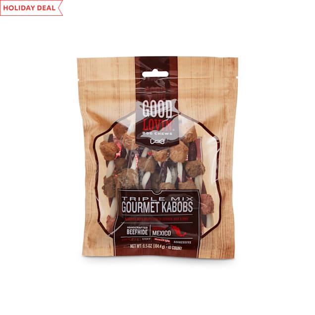 Good Lovin' Triple Mix Gourmet Kabob Dog Chews, Pack of 10 - Carousel image #1